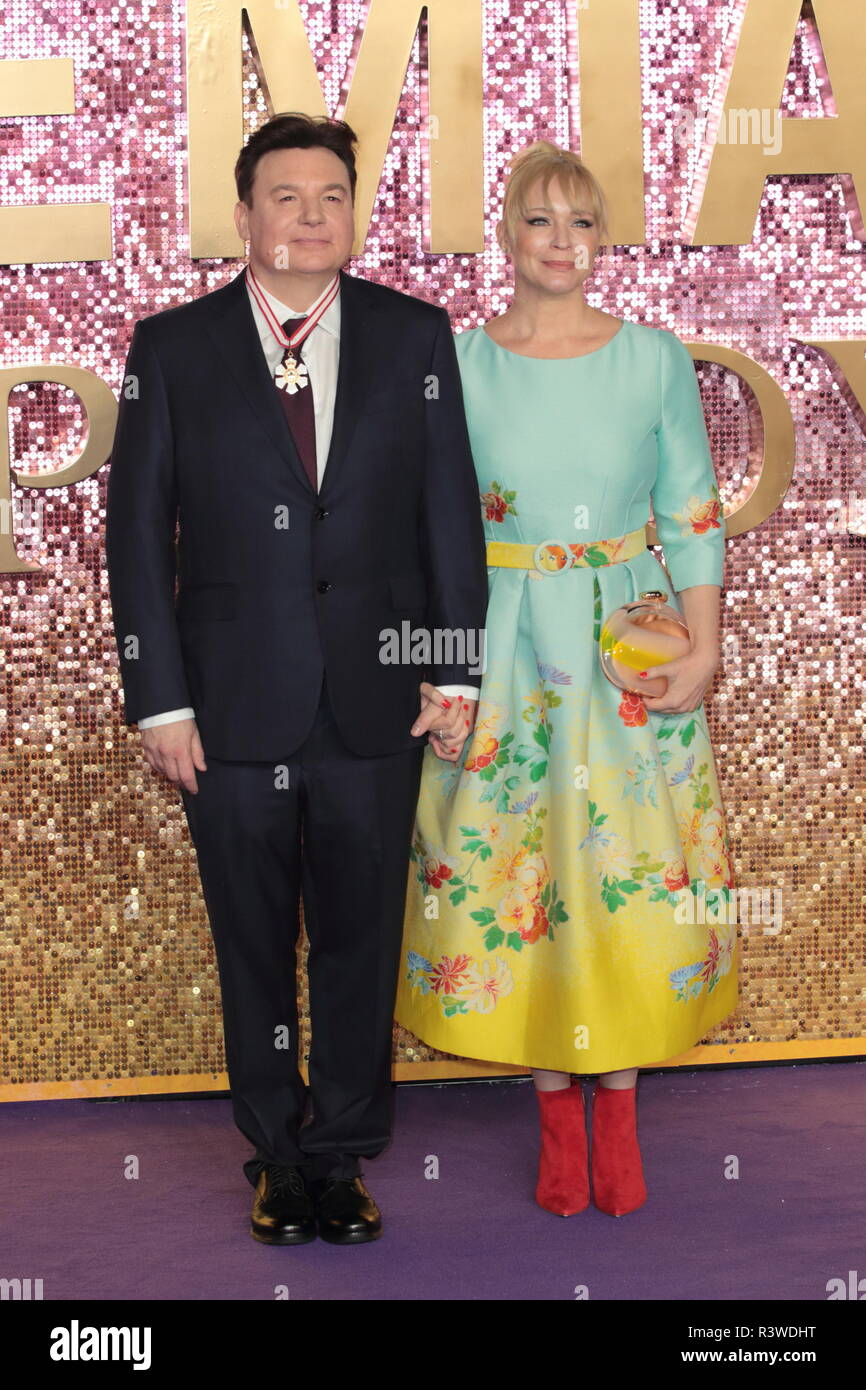 World premiere of 'Bohemian Rhapsody' - Arrivals  Featuring: Mike Myers & Kelly Tisdale Where: London, United Kingdom When: 23 Oct 2018 Credit: WENN.com Stock Photo