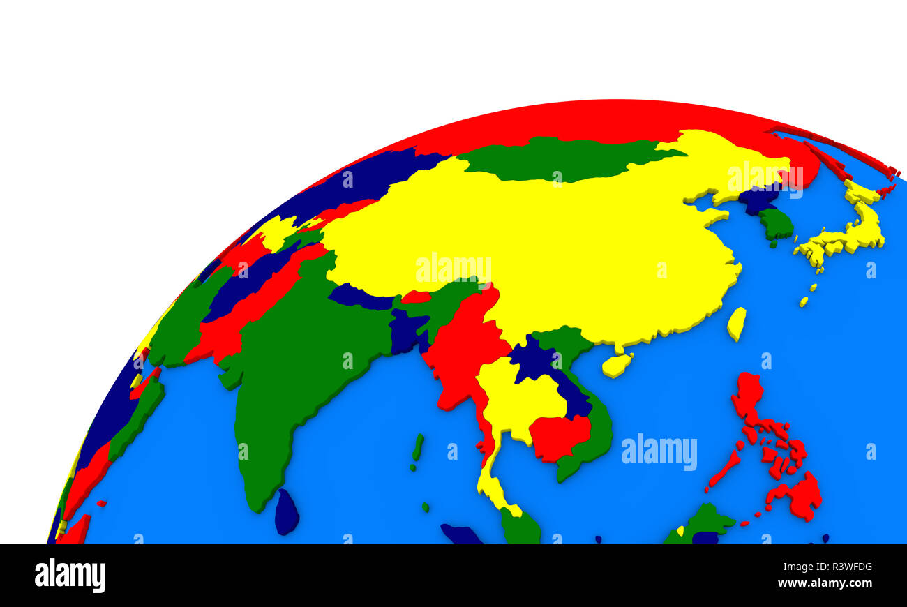southeast Asia on Earth political map Stock Photo: 226139692 ...