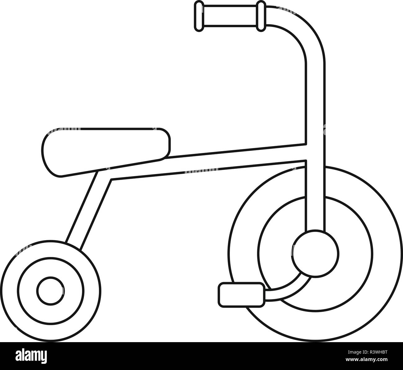little tricycle icon outline little tricycle vector icon for web design isolated on white background R3WHBT little tricycle icon outline little tricycle vector icon for web