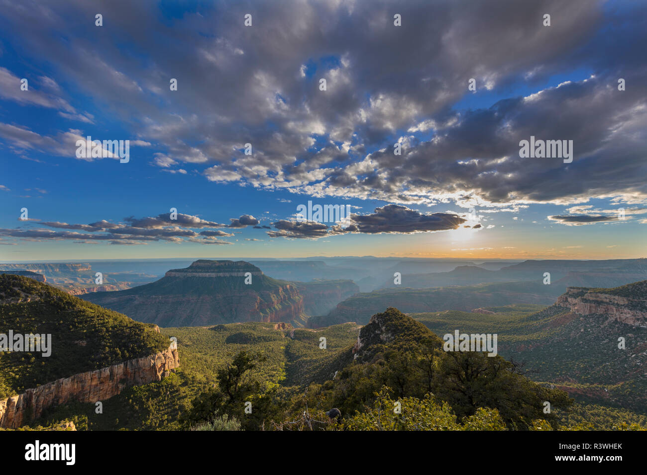 Dramatic view from North Timp Point in Grand Canyon National Park, Arizona, USA - Stock Image