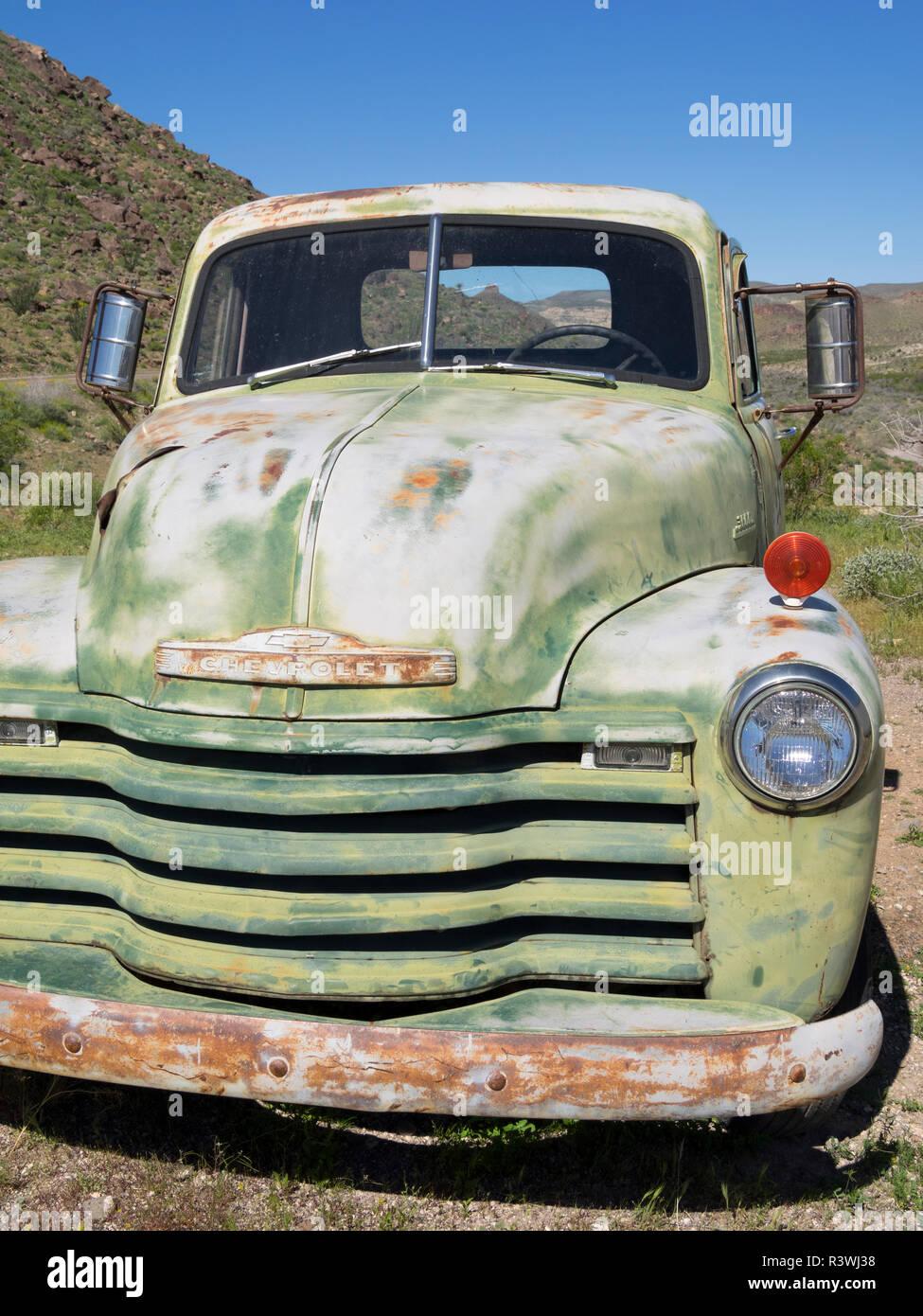 Arizona, Cool Springs, 1952 Chevy 3/4 ton pickup truck Stock Photo
