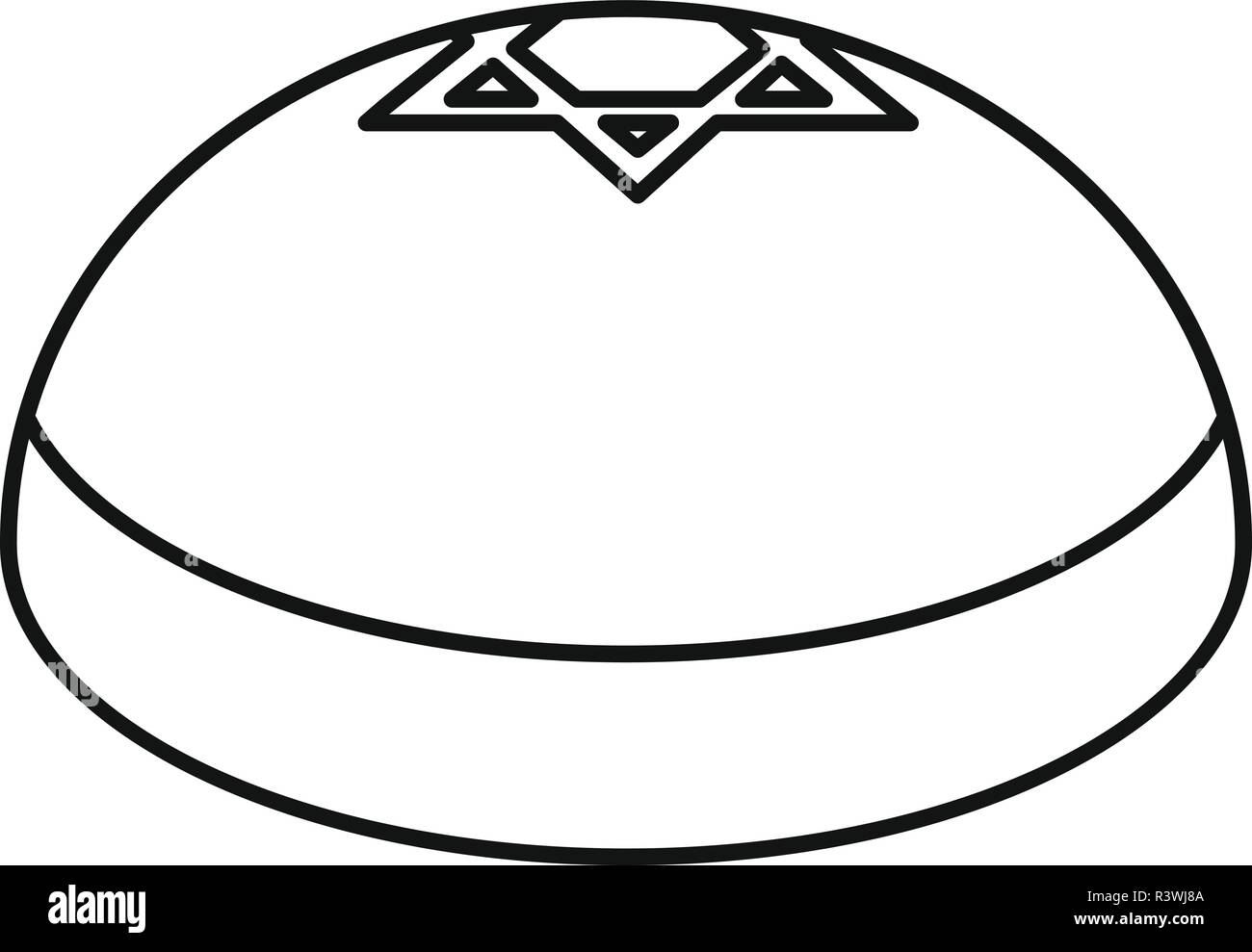 Kipa hat icon. Outline illustration of kipa hat vector icon for web design isolated on white background Stock Vector