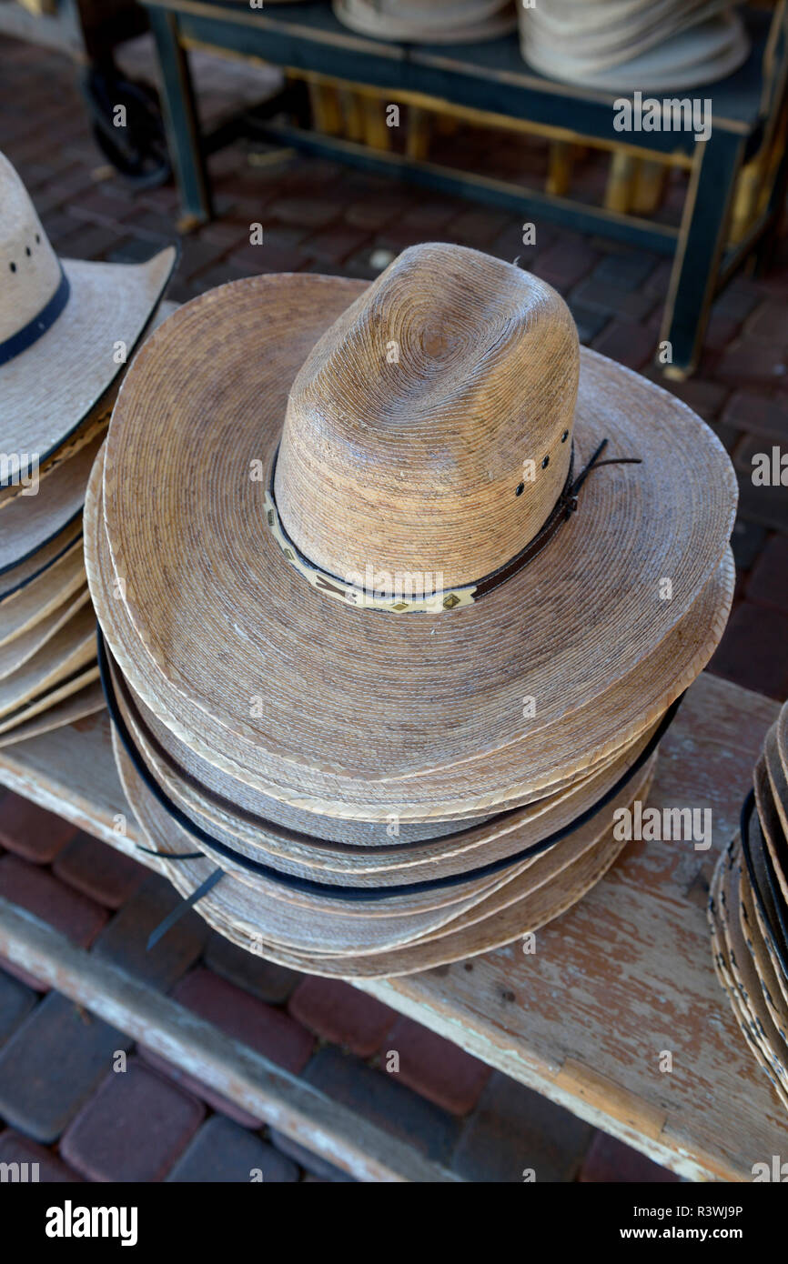 6e0fdb620630b8 USA, Arizona, Sedona. Stack of cowboy hats for sale Stock Photo ...