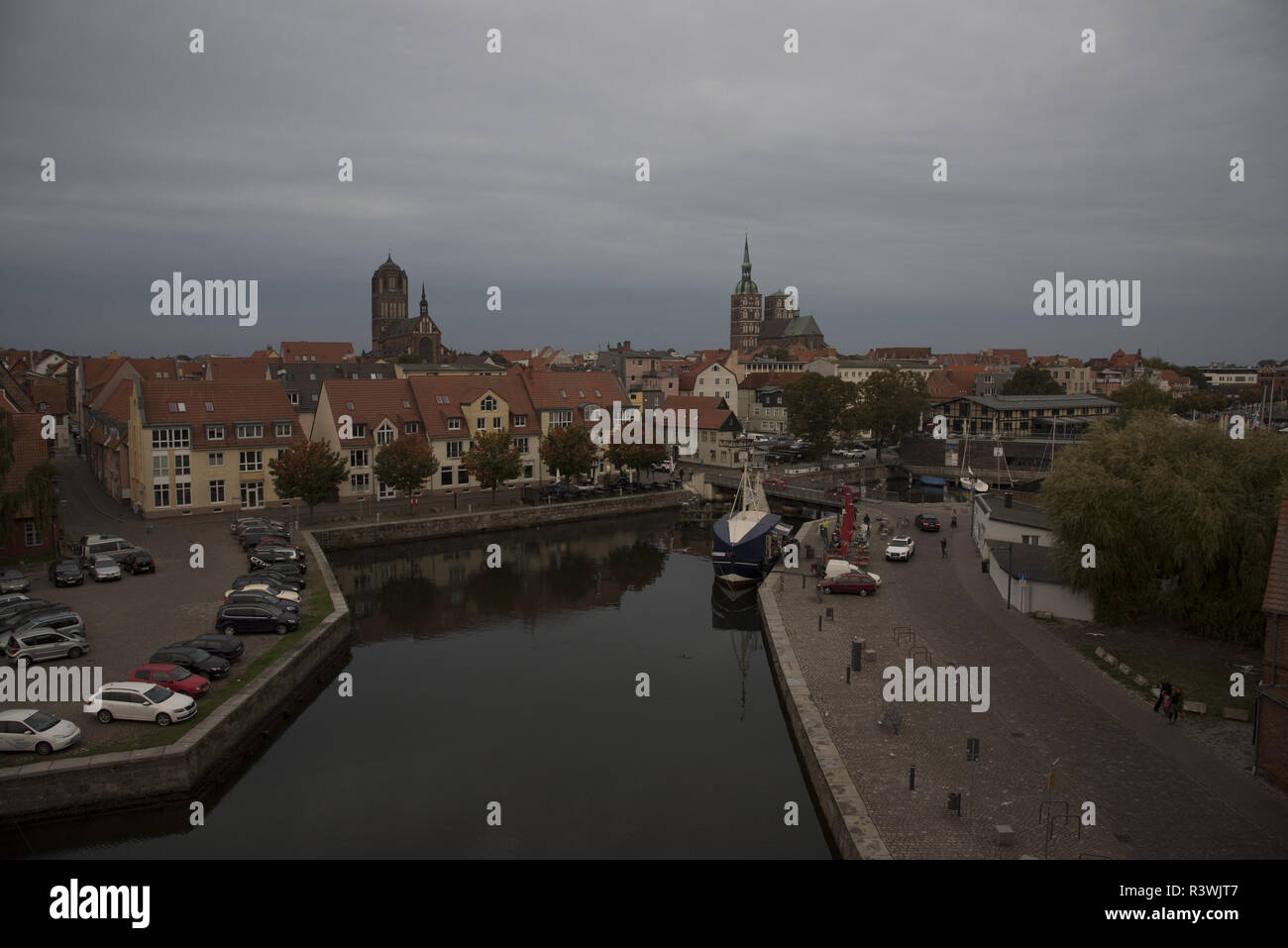 Stralsund is a Hanseatic town in Mecklenbug-Vorpommern in  Germany with some famous churches. Stock Photo