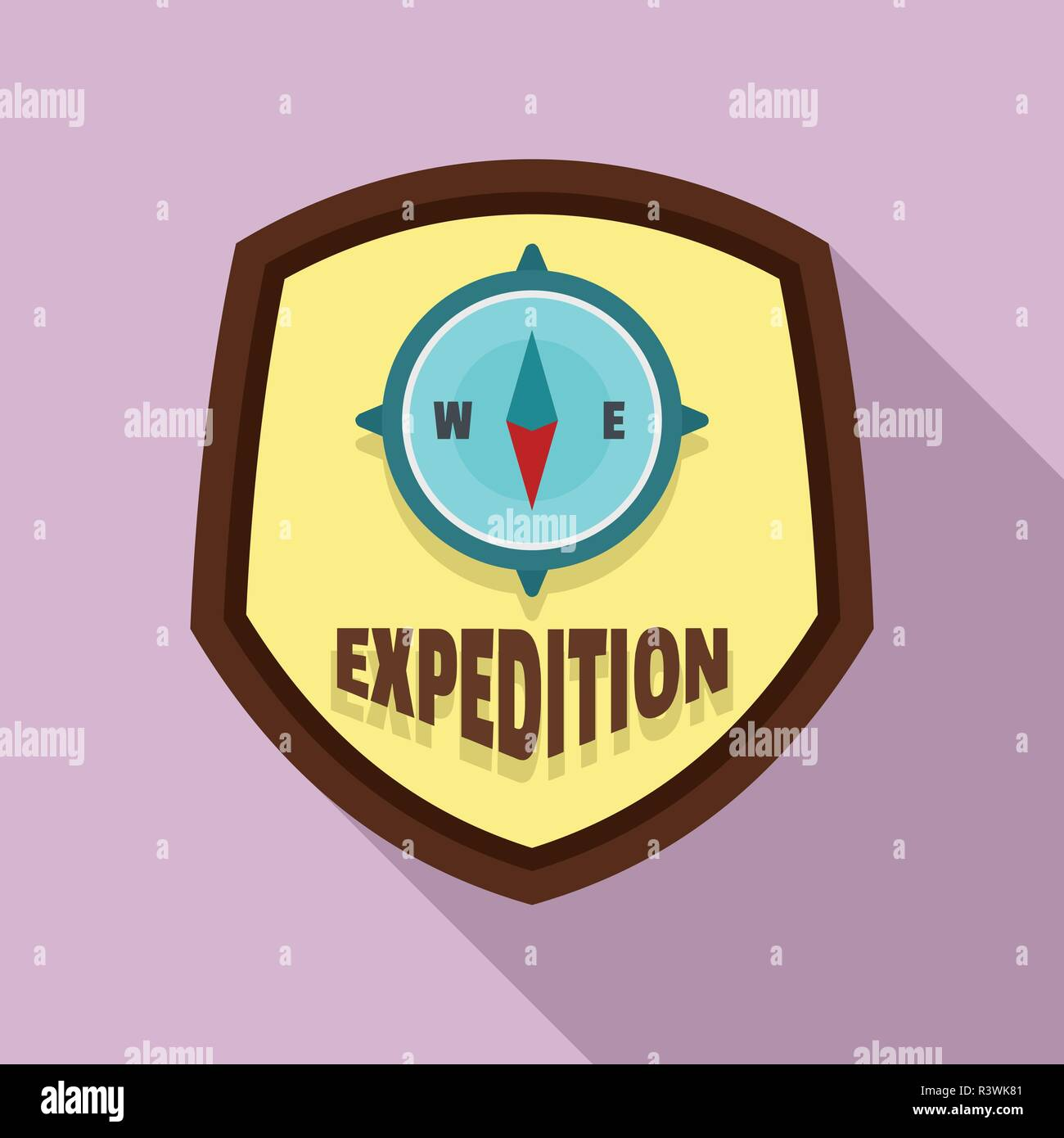 Expedition Logo Flat Illustration Of Expedition Vector Logo For Web