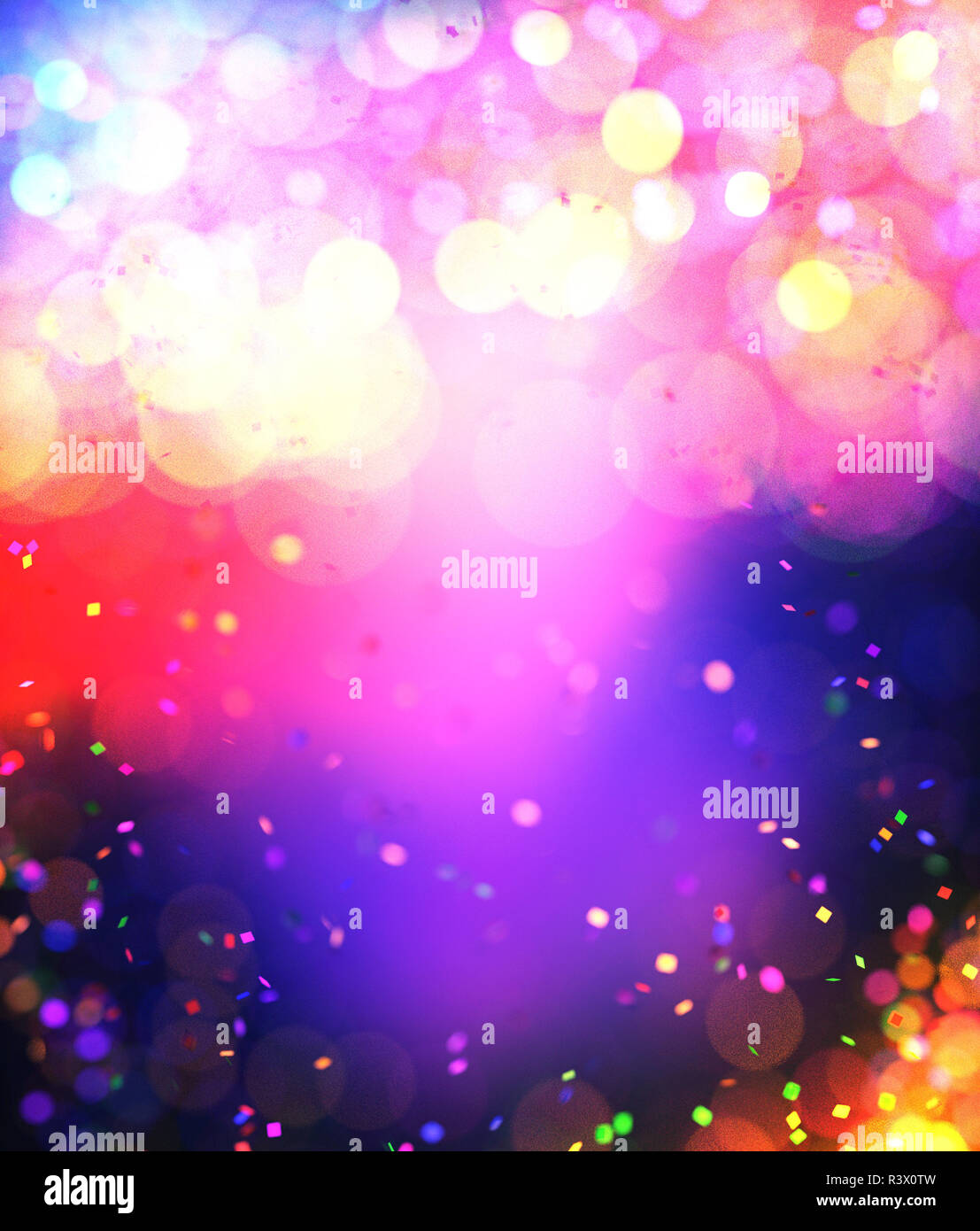 Colorful Christmas Background Design.Abstract Colorful Blurred Lights For Festive Background