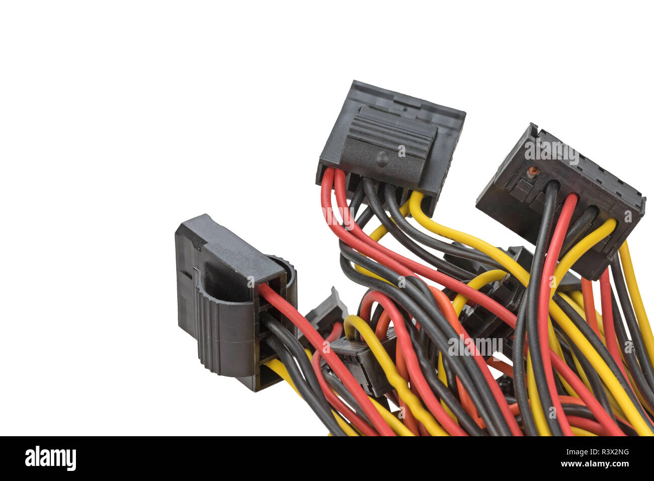 Cables With Connectors Isolated Stock Photo 226151676 Alamy Computer Wiring
