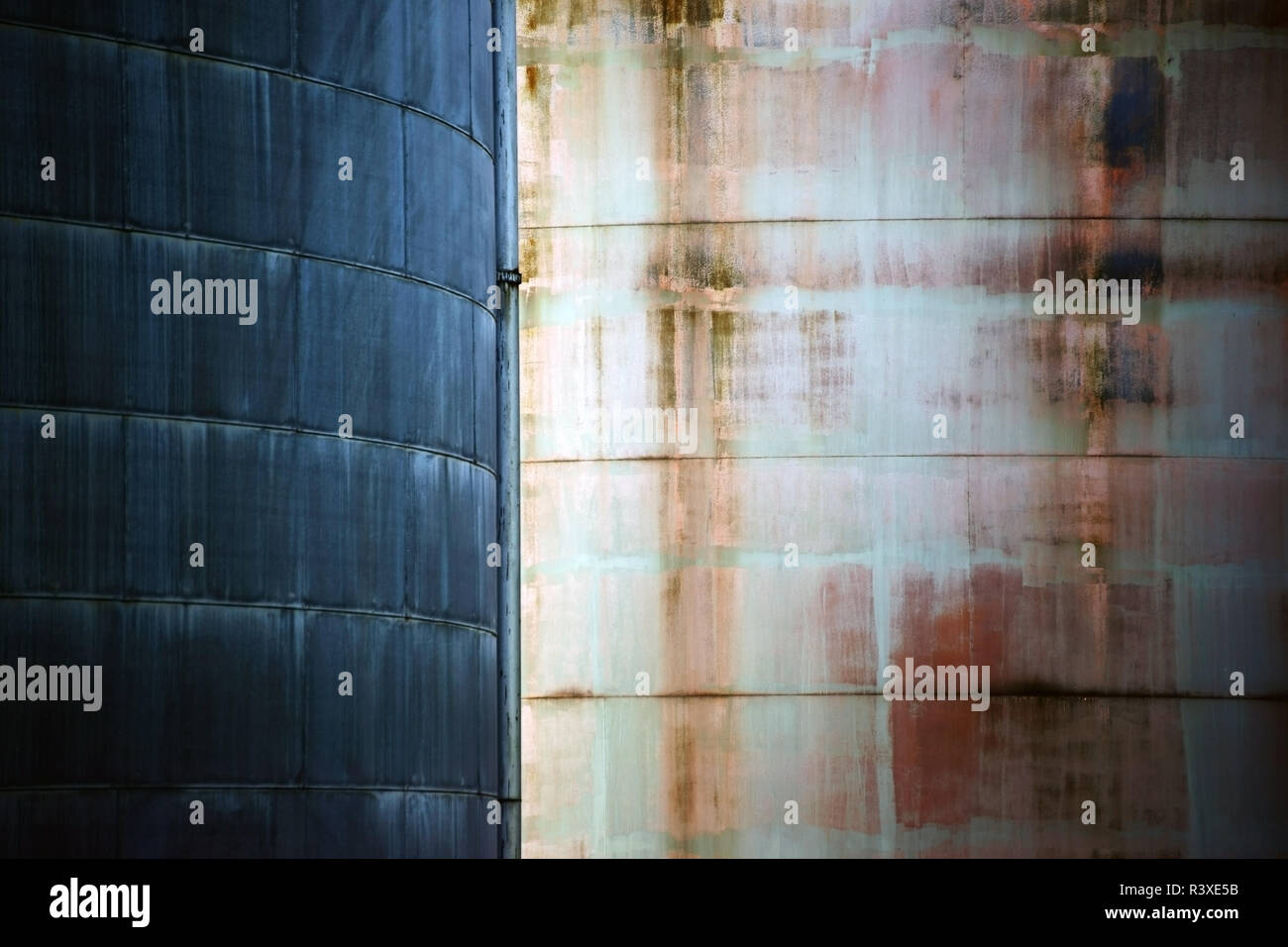 metal surfaces contrast - Stock Image