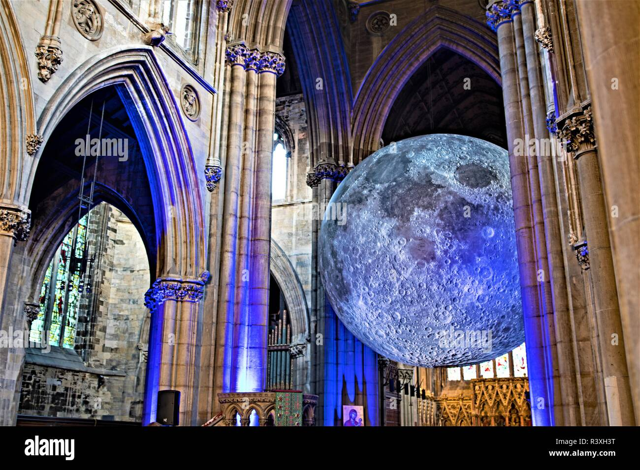 Museum of the Moon, in St George's Minster, Doncaster, South Yorkshire. - Stock Image