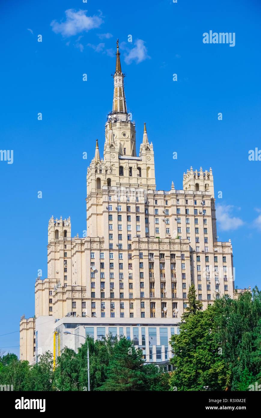 Stalin skyscraper on Kudrinskaya Square, Moscow Stock Photo