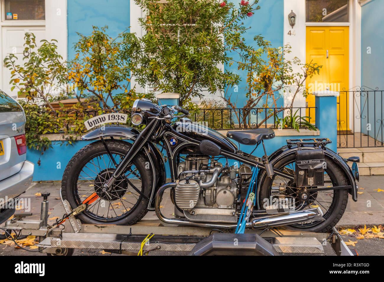 Motorbike Trailer Stock Photos & Motorbike Trailer Stock
