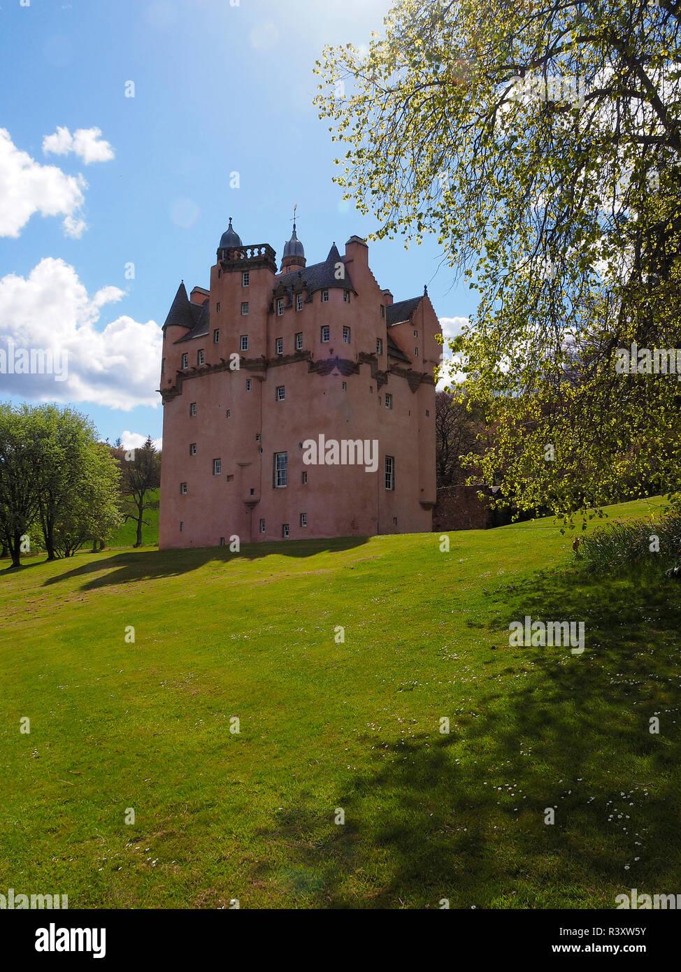 CRAIGIEVAR CASTLE Scotland - Stock Image
