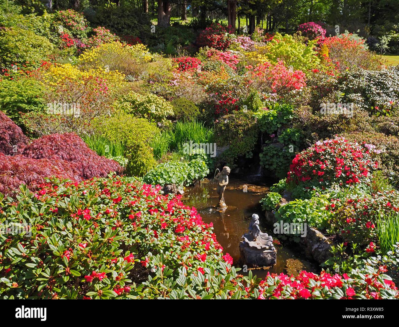 Ballindalloch Castle and gardens Scottish Highlands - Stock Image