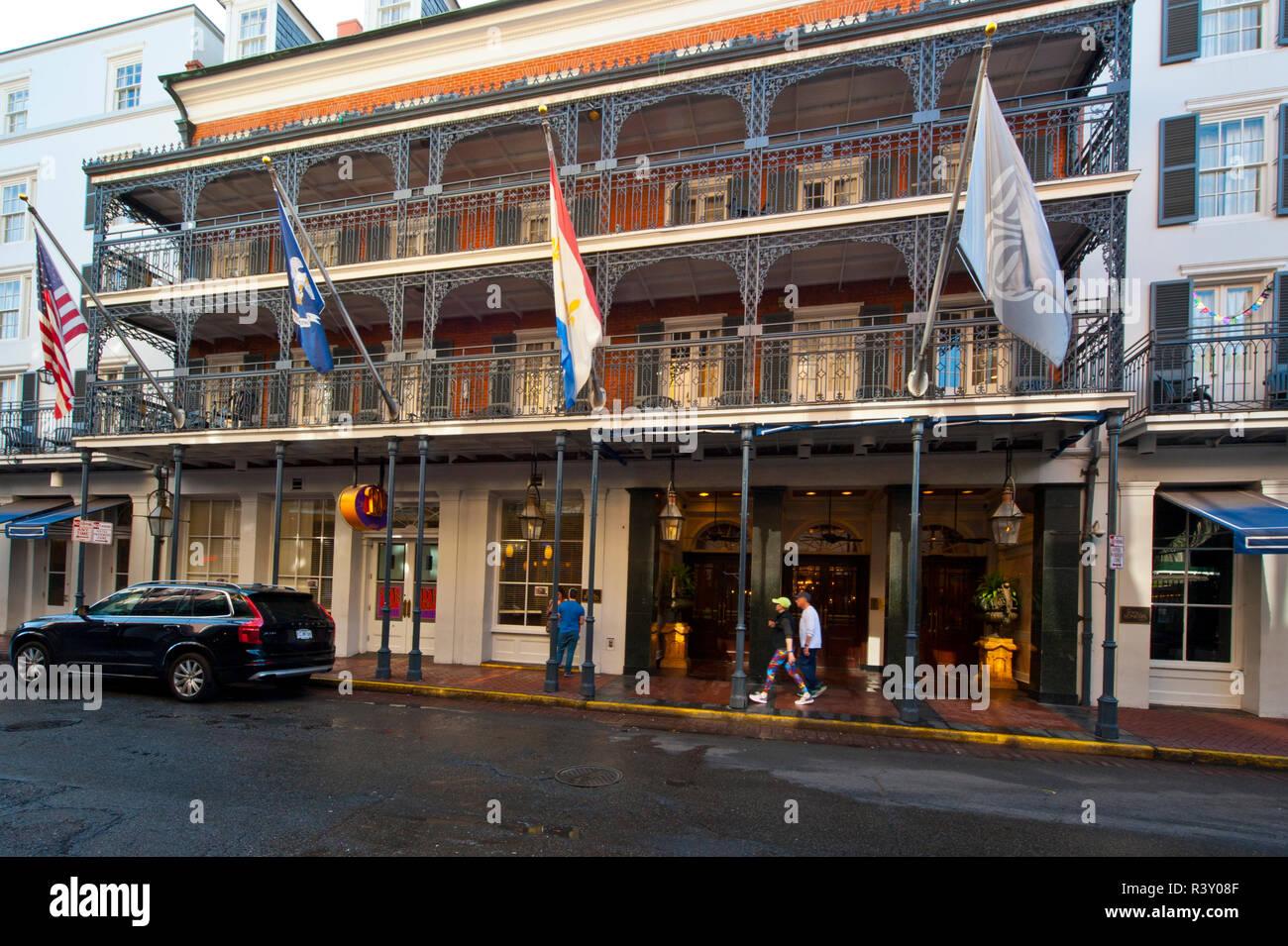 Usa Louisiana New Orleans French Quarter Royal Sonesta Hotel Stock Photo Alamy