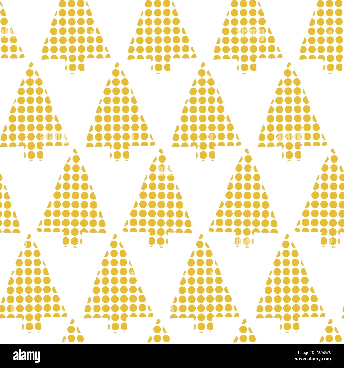 Abstract Christmas Trees Vector Seamless Pattern Geometric