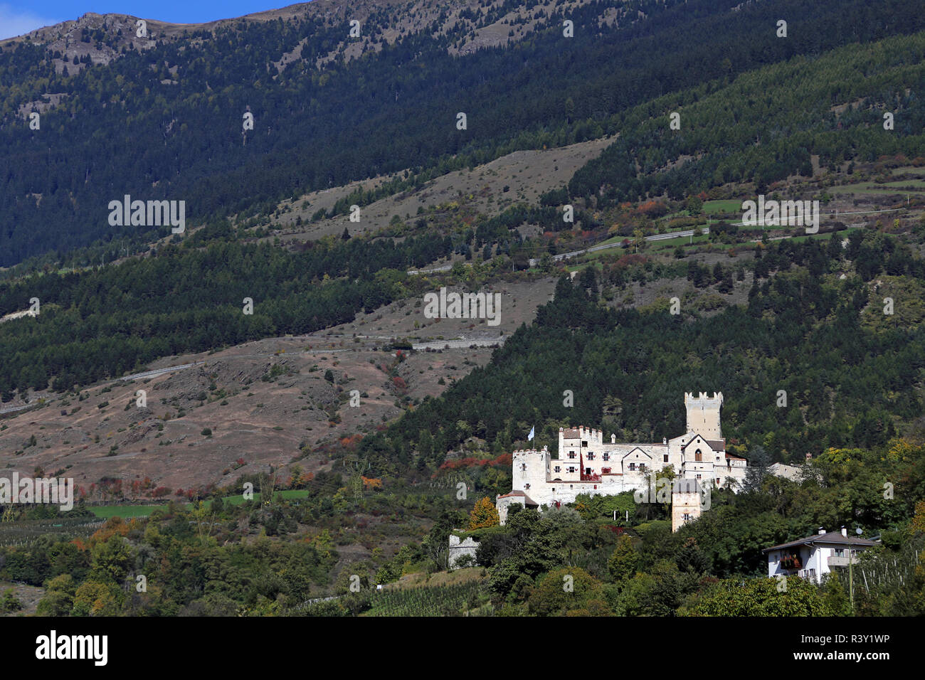 coira castel coira or at schlunders in south tyrol Stock Photo