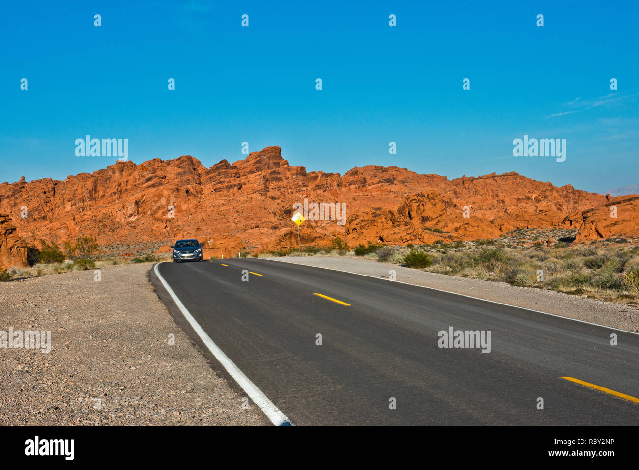 USA, Nevada. Overton, Valley of Fire State Park, First Nevada Park - Stock Image