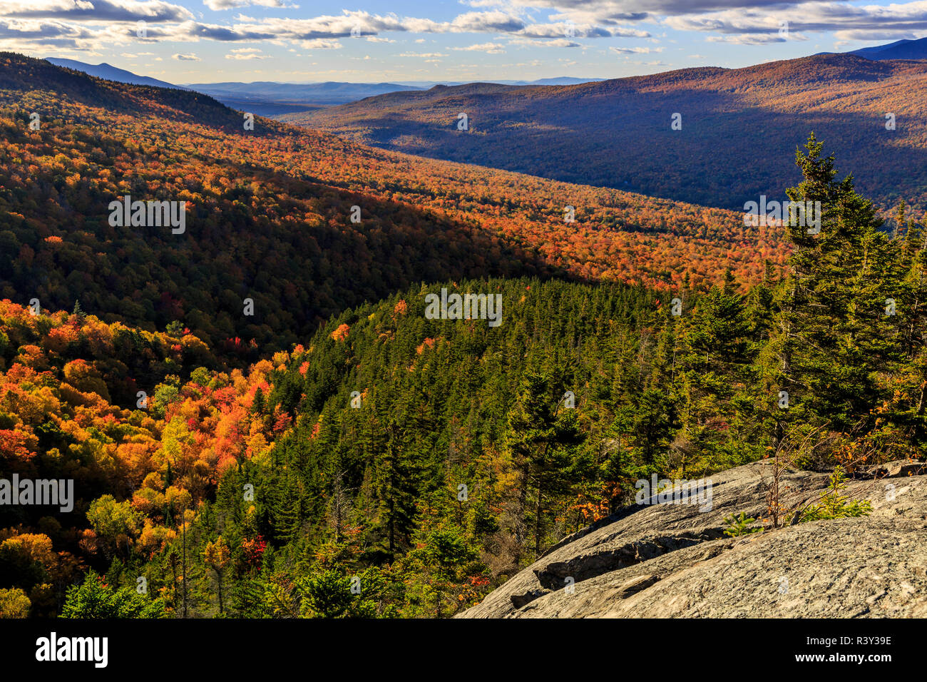 New Hampshire's White Mountain National Forest. Stock Photo