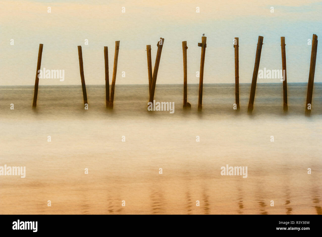Cape May, New Jersey, USA, morning, pier, sunrise Stock Photo