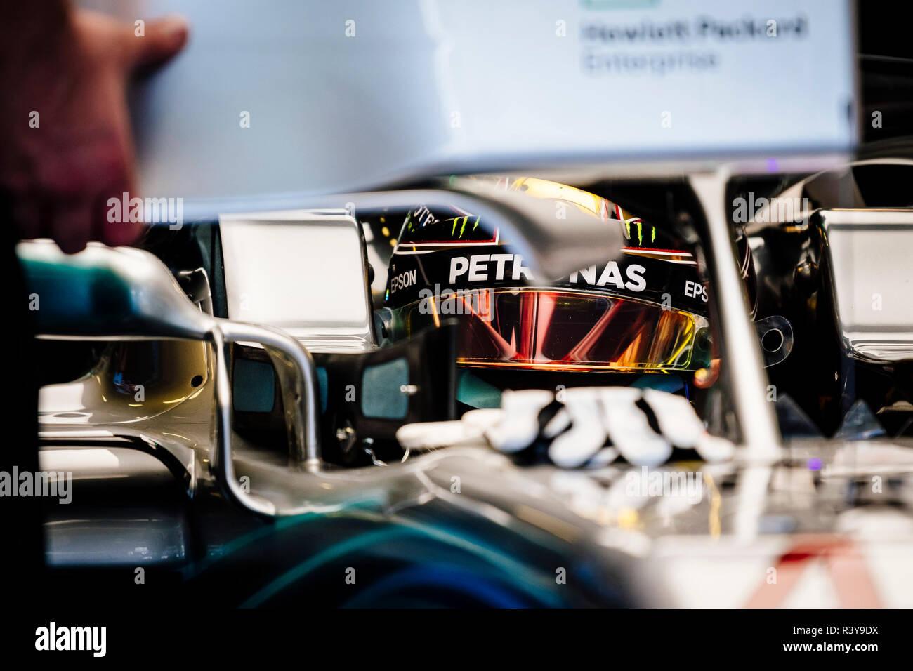 Abu Dhabi, UAE  24th Nov 2018  Mercedes AMG Petronas F1