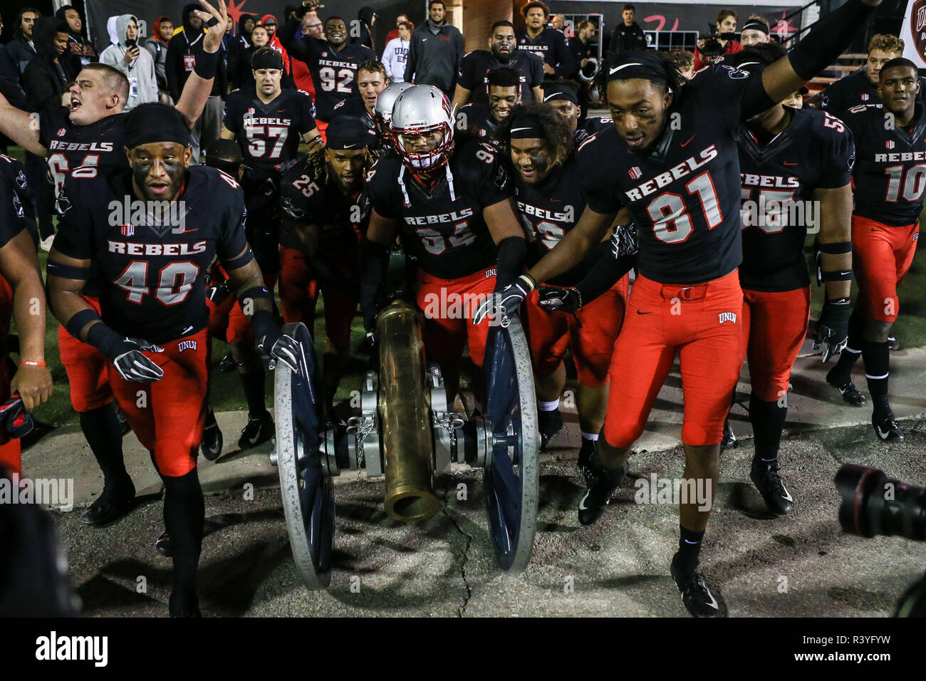 detailing 58a78 ff8ff Las Vegas, Nevada, USA. 24th Nov, 2018. UNLV Rebels players ...