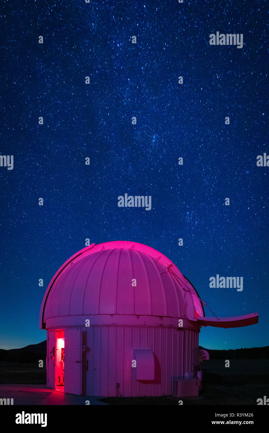 The McDonald Observatory is an astronomical observatory located near the unincorporated community of Fort Davis in Jeff Davis County, Texas, United St - Stock Image
