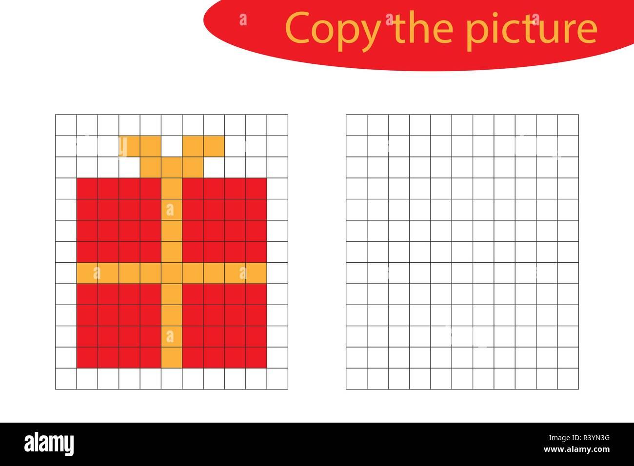 Pixel Art Noel Cadeau.Pixel Art Noel