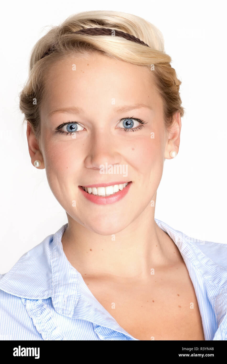 blond woman's face - Stock Image