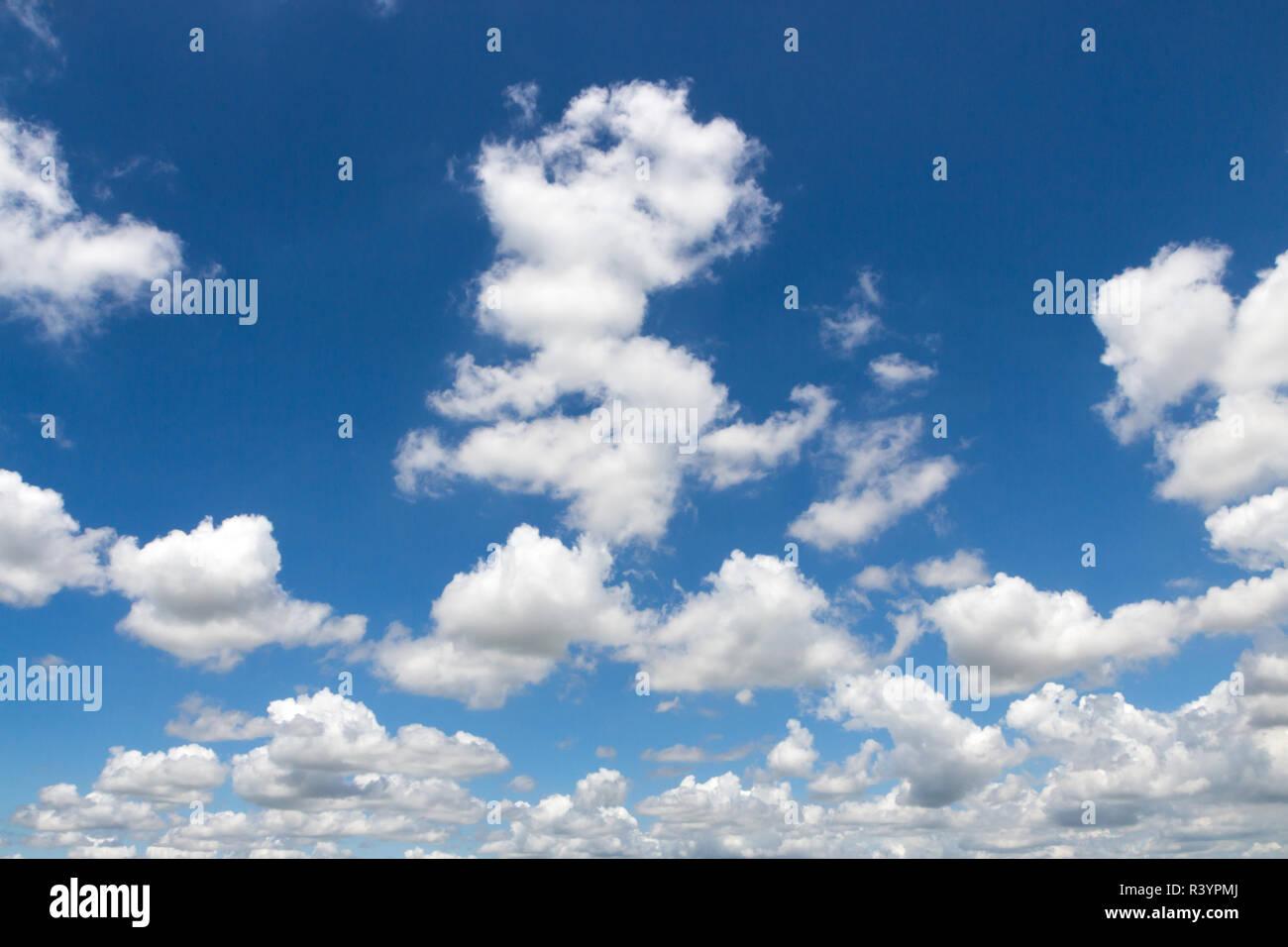 beauty clound on blue sky - Stock Image