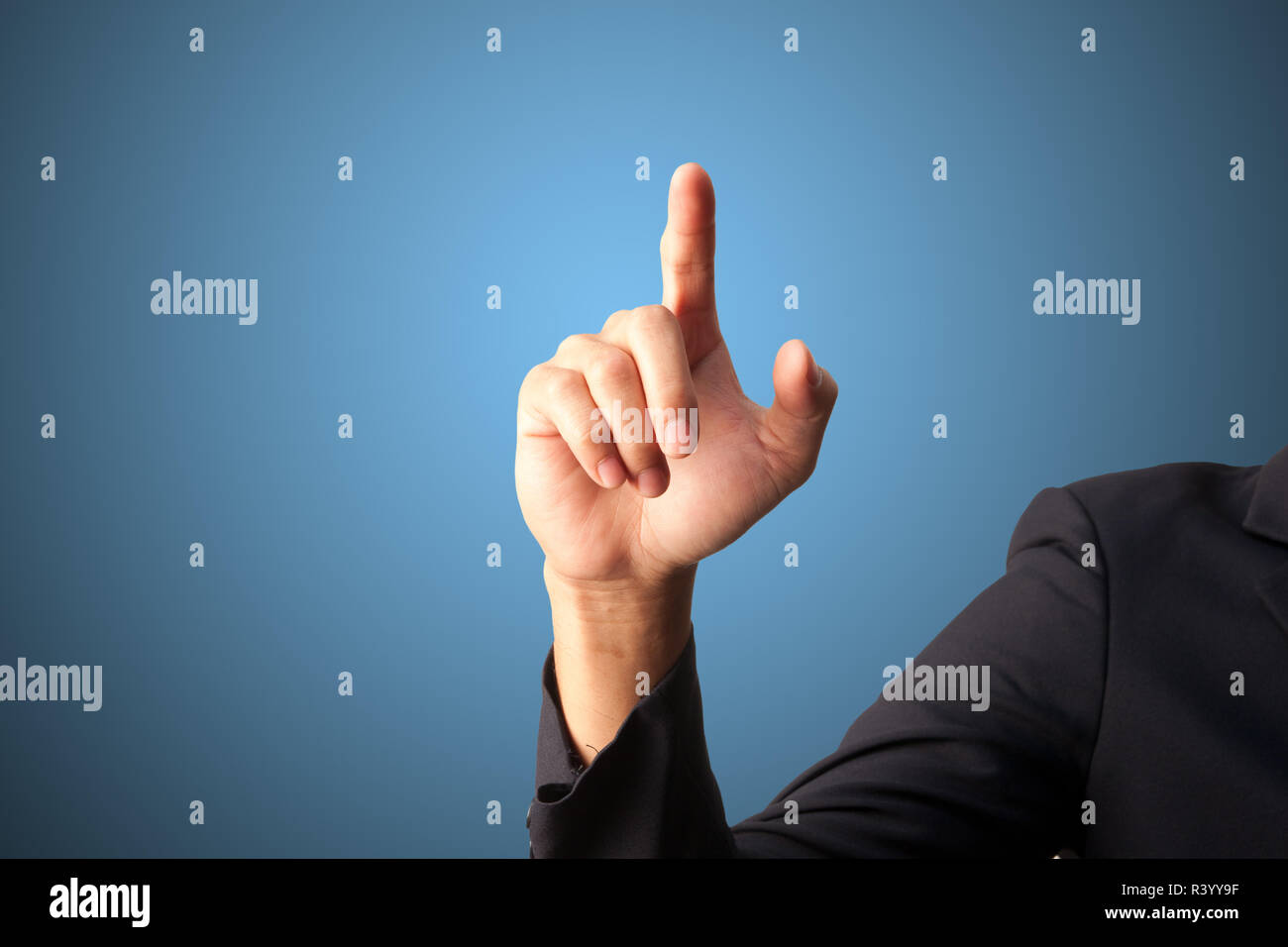 Hand of Bussiness man isolated - Stock Image