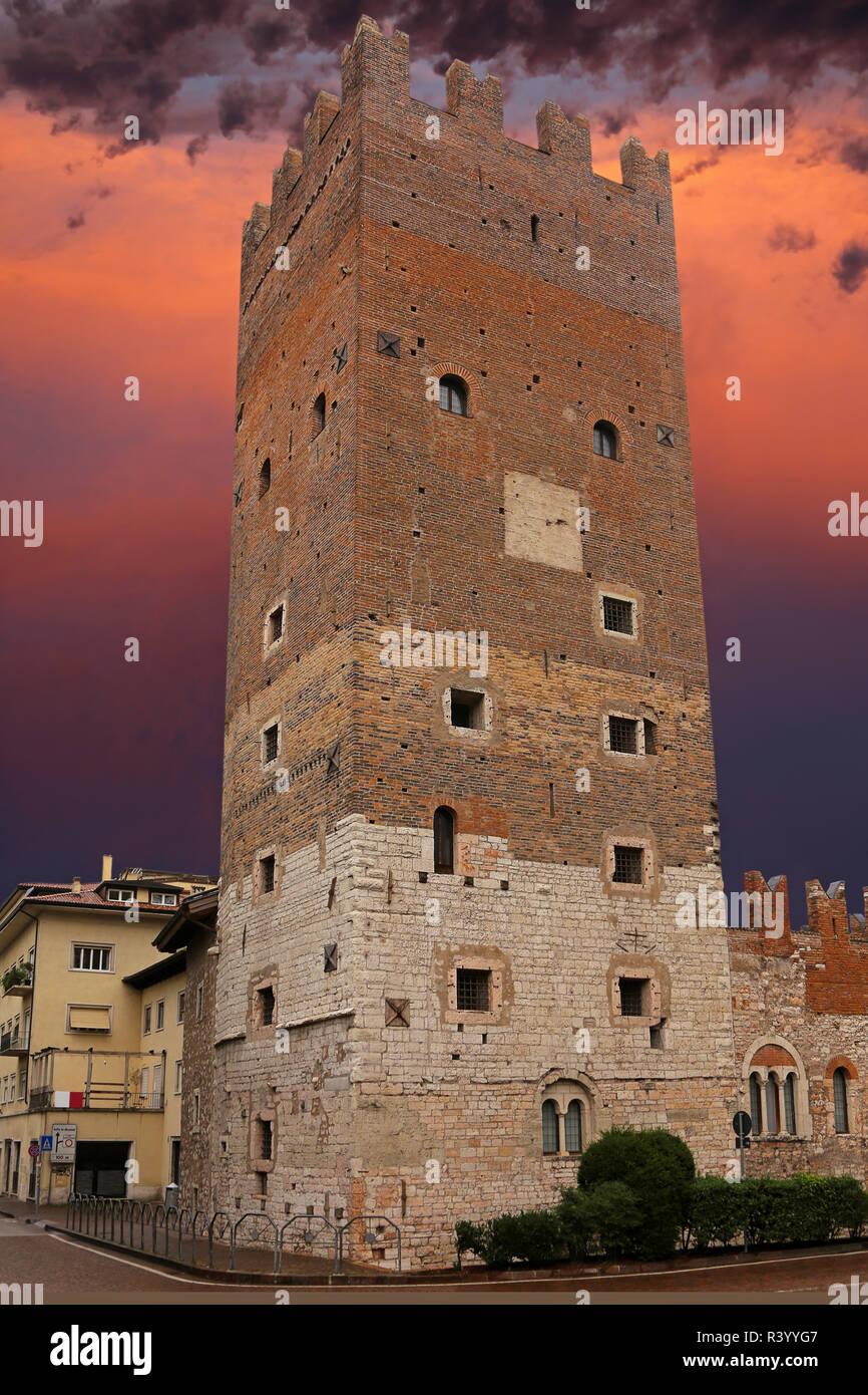 torre vanga in trento - Stock Image