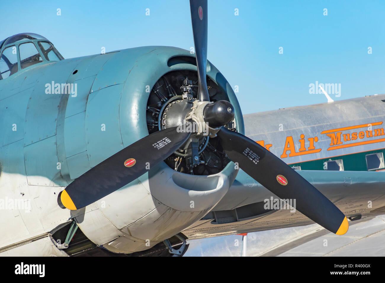 WW II military plane, Madras, Oregon. Stock Photo