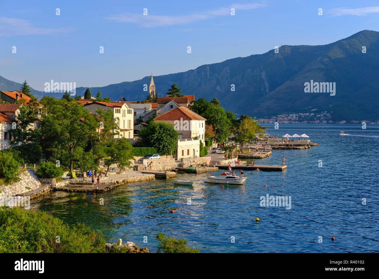 Dobrota, Bay of Kotor, Montenegro Stock Photo
