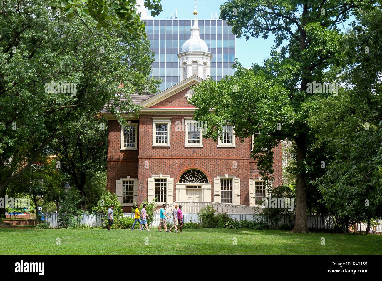 Carpenters' Hall, Independence National Historical Park, Philadelphia, Pennsylvania, Usa. Stock Photo