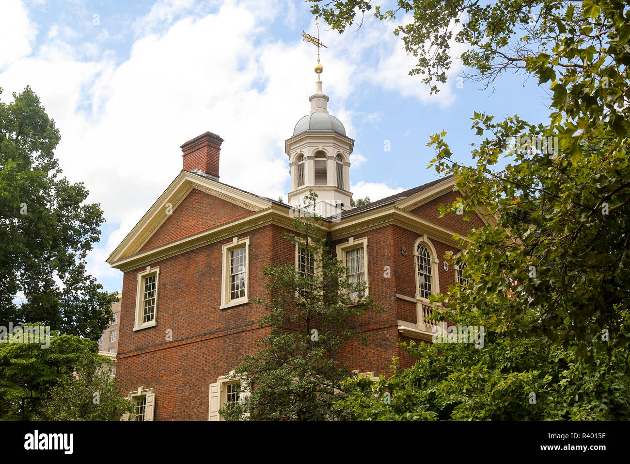 Carpenters' Hall, Independence National Historical Park, Old City, Philadelphia, Pennsylvania, Usa. Stock Photo