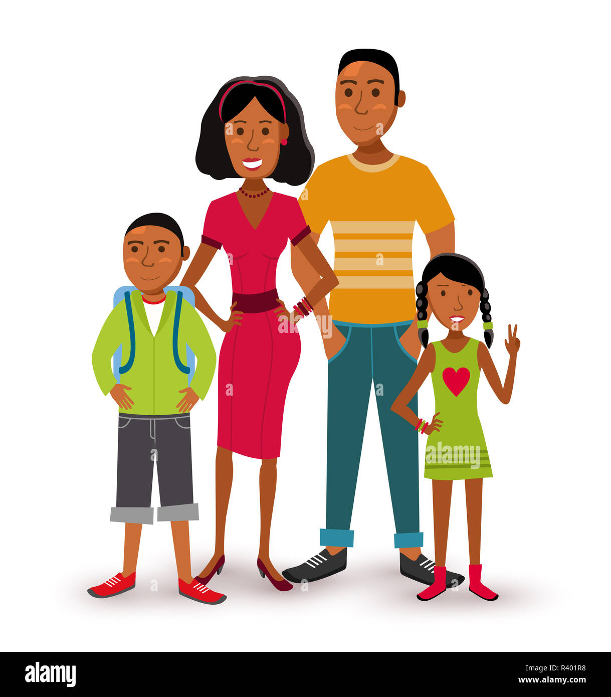 nuclear family cartoon cut out stock images pictures alamy