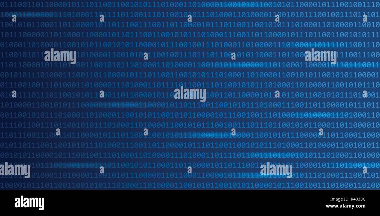 blue digital binary code web technology background vector illustration EPS10 - Stock Image