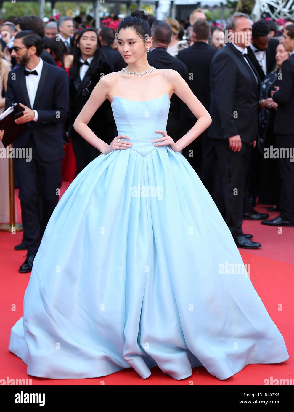 CANNES, FRANCE – MAY 15, 2018: Ming Xi walks the 'Solo: A Star Wars Story ' red carpet at the 71st Festival de Cannes (photo Mickael Chavet) - Stock Image