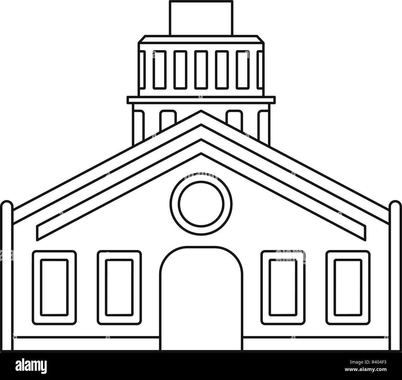 Chapel icon. Outline illustration of chapel vector icon for web design isolated on white background - Stock Vector