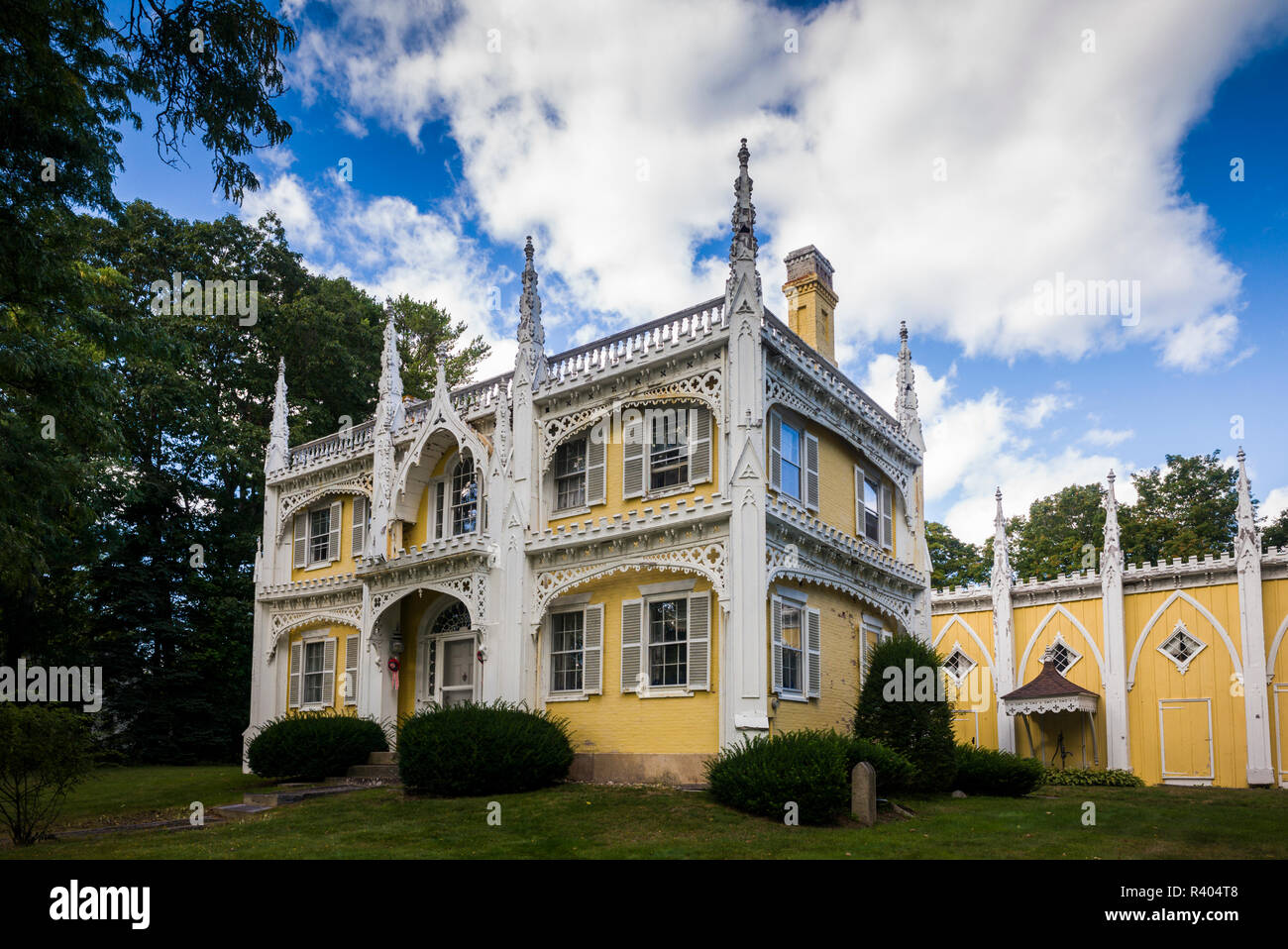 Usa Maine Kennebunk The Wedding Cake House Most Photographed