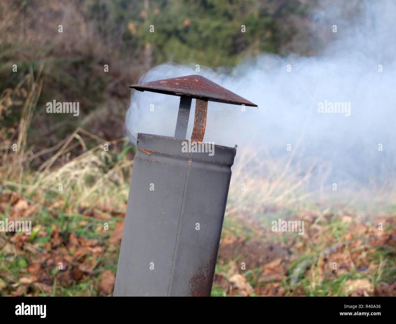 AIR POLLUTION . LUFTVERSCHMUTZUNG Stock Photo