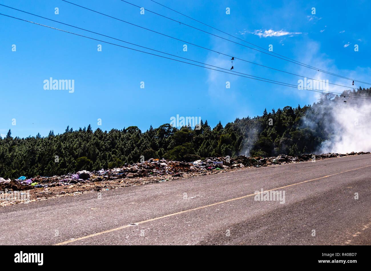 Guatemalan landfill dump - Stock Image