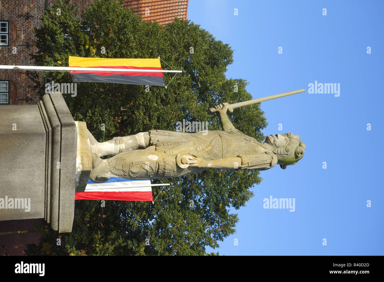 stone roland in bad bramstedt - Stock Image