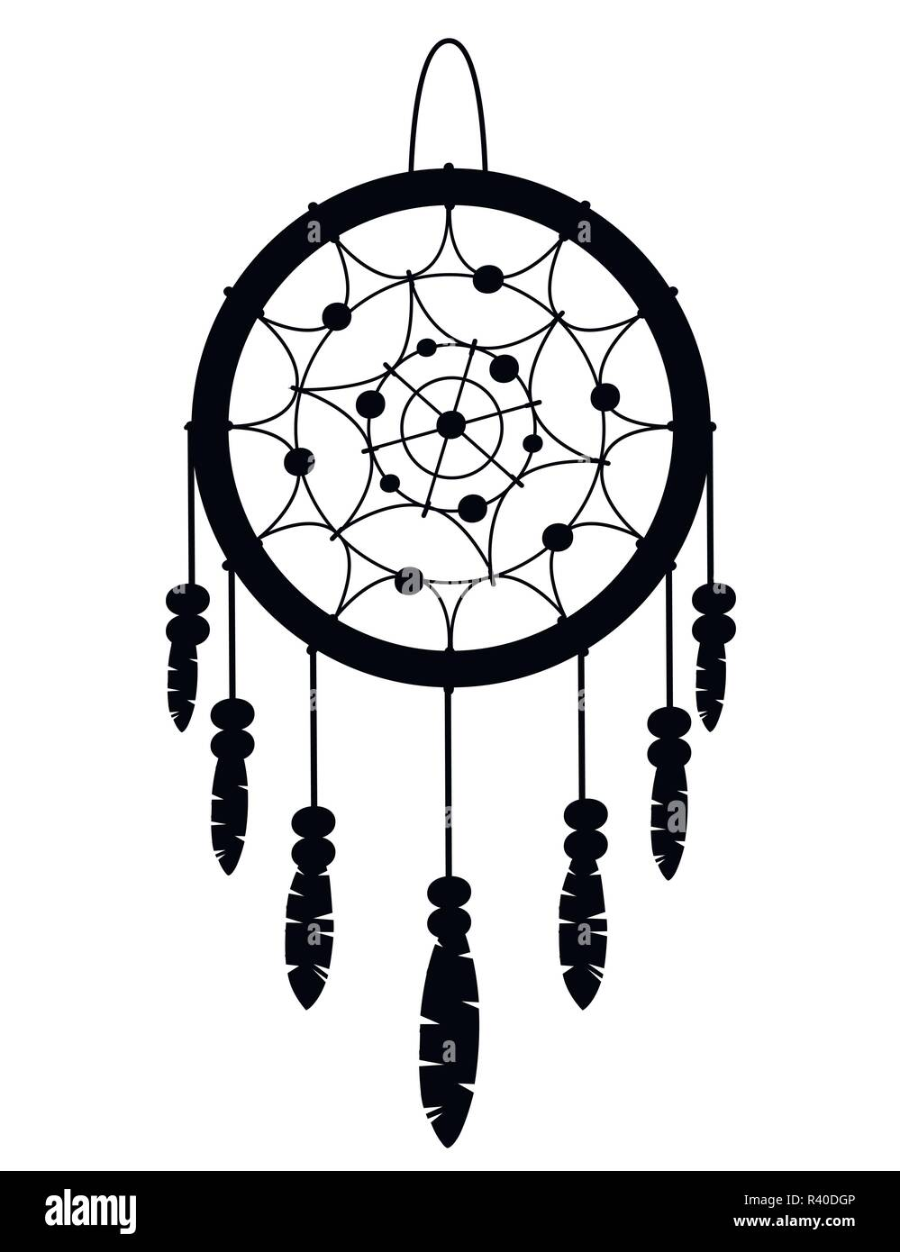 Black Silhouette Dreamcatcher Boho Native American Indian Talisman Tribal Design Magic Item With Feathers Fashionable Flat Style Talisman Vector Stock Vector Image Art Alamy,Easy Simple Easy Small Rangoli Designs For Diwali