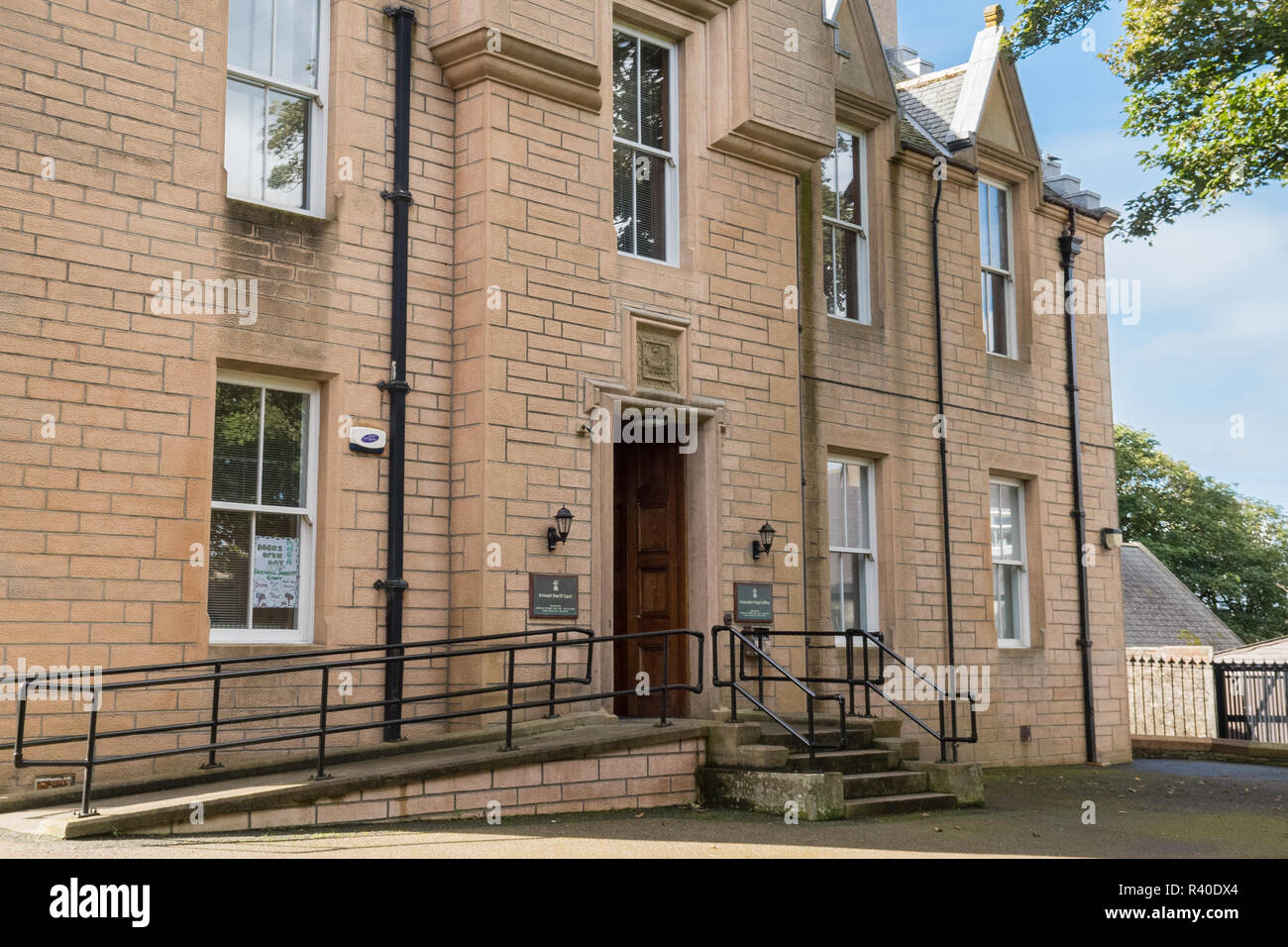Kirkwall Sheriff Court building,  Kirkwall, Orkney, Scotland, UK - Stock Image