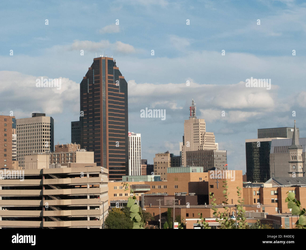 USA, Minnesota, Saint Paul, Minnesota Saint Paul Skyline from Minnesota History Center - Stock Image