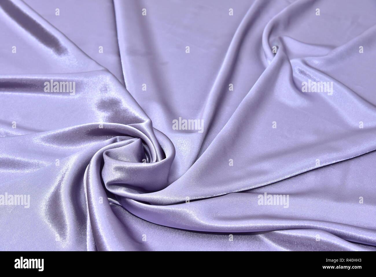 Beautiful Smooth Elegant Wavy Violet Purple Satin Silk Luxury Cloth