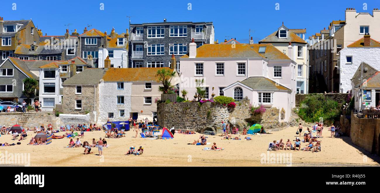 St Ives,Harbour beach,Cornwall,England,UK - Stock Image