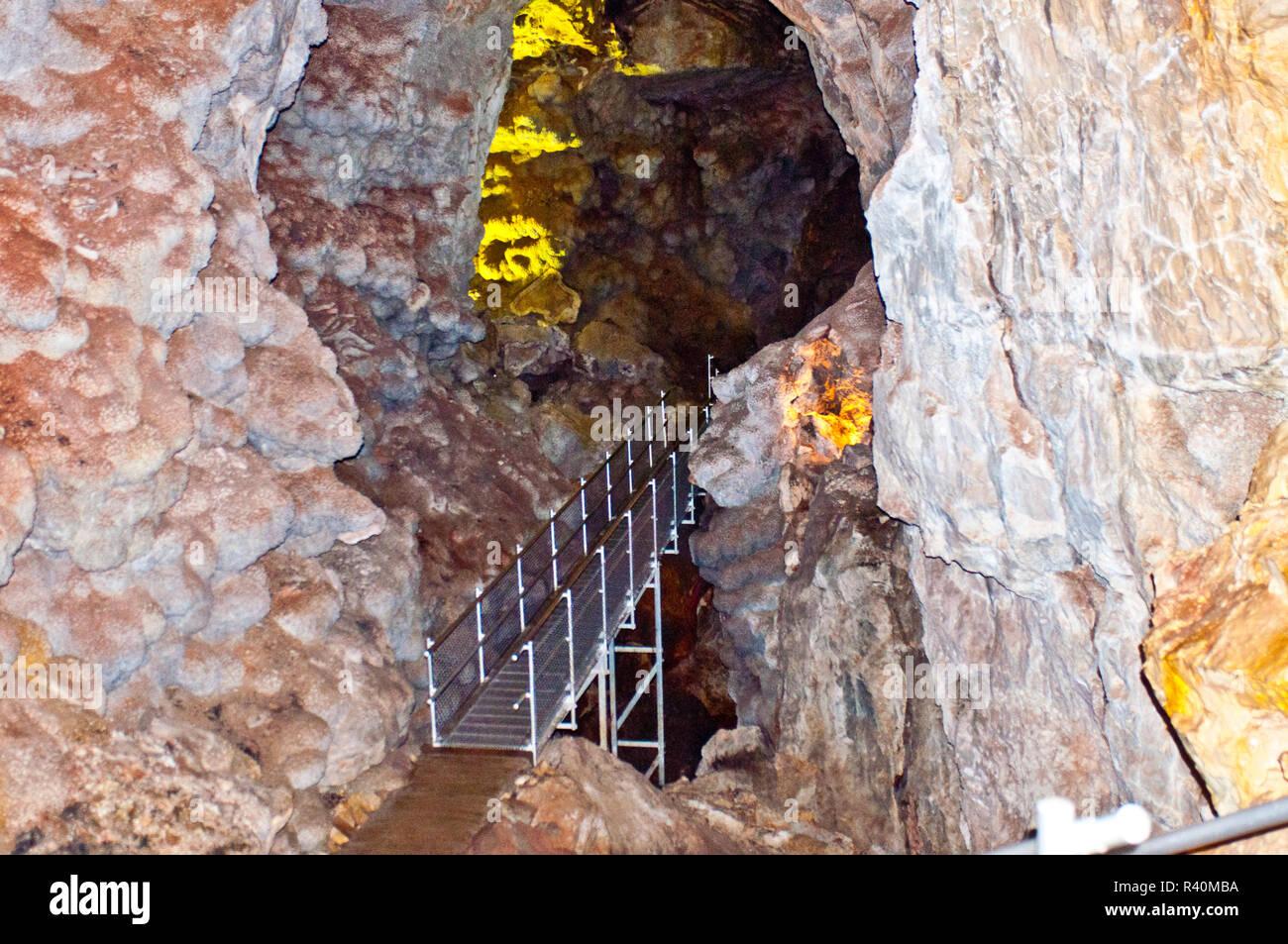 USA, South Dakota, Custer, Jewel Cave National Monument, Scenic Tour - Stock Image