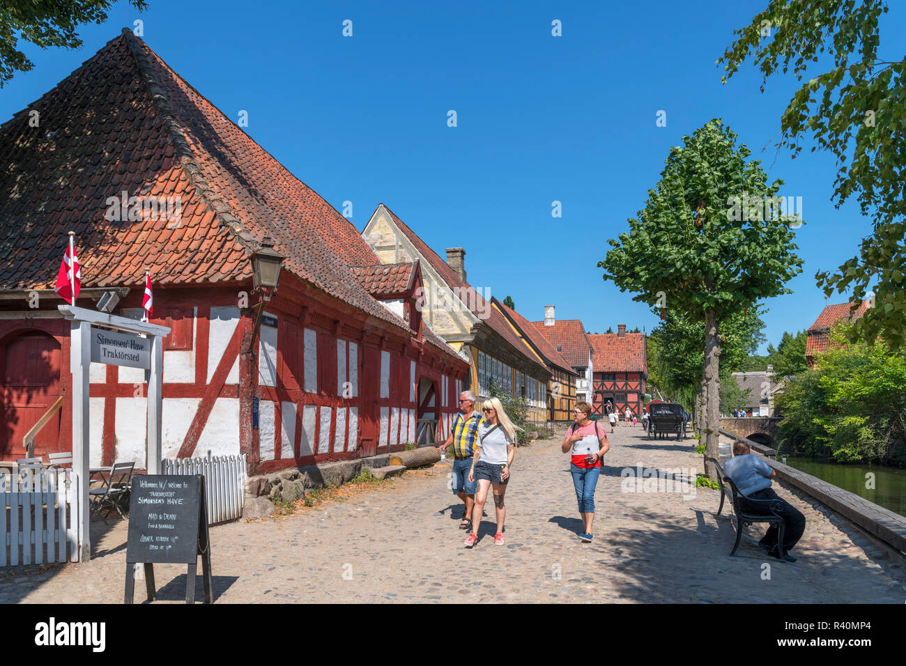 The Old Town (Den Gamle By), an open air museum in Aarhus, Denmark - Stock Image